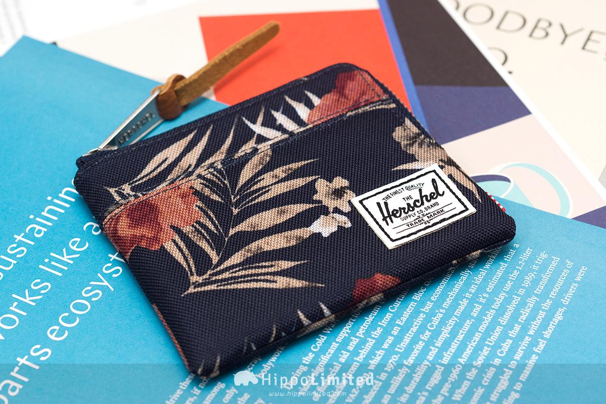 กระเป๋าเหรียญ Herschel Johnny Wallet - Peacoat Floria ด้านหน้าเต็มใบ