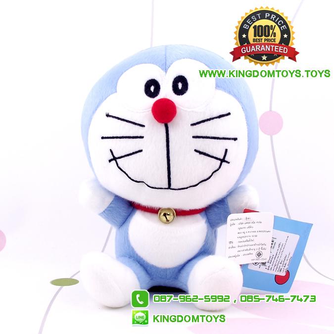 ตุ๊กตา โดเรม่อน นั่ง ยิ้มสีฟ้า 7 นิ้ว [Fujiko Pro]