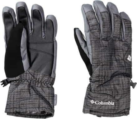 Columbia Men's Whirlibird Short Gloves - Black Tweed Plaid Print