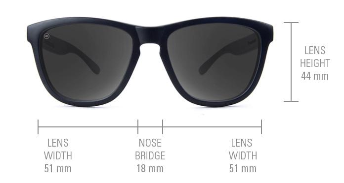 ขนาดแว่นตา Knockaround