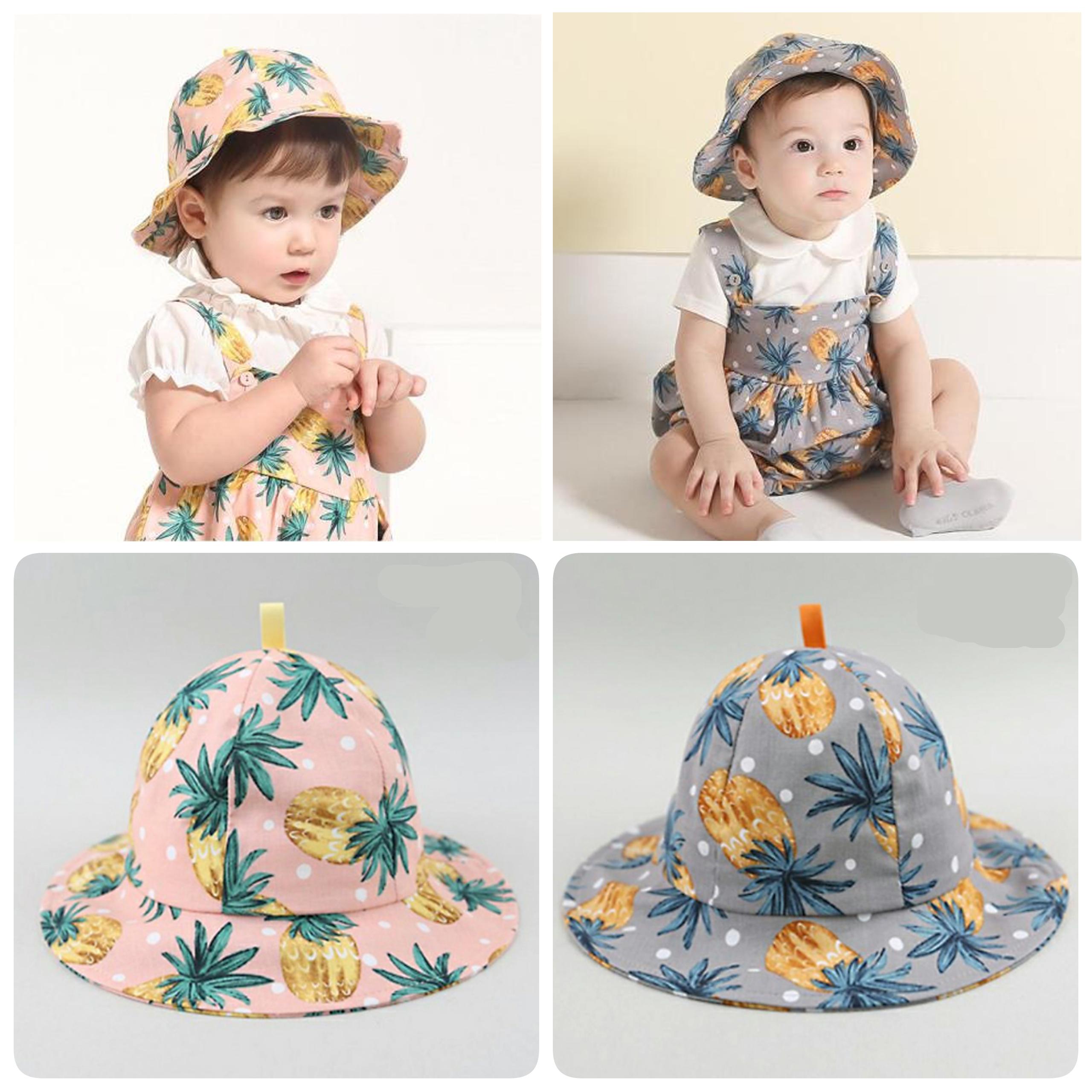 Baby Touch หมวกปีกรอบ ลายสับปะรด (Hat - DH)