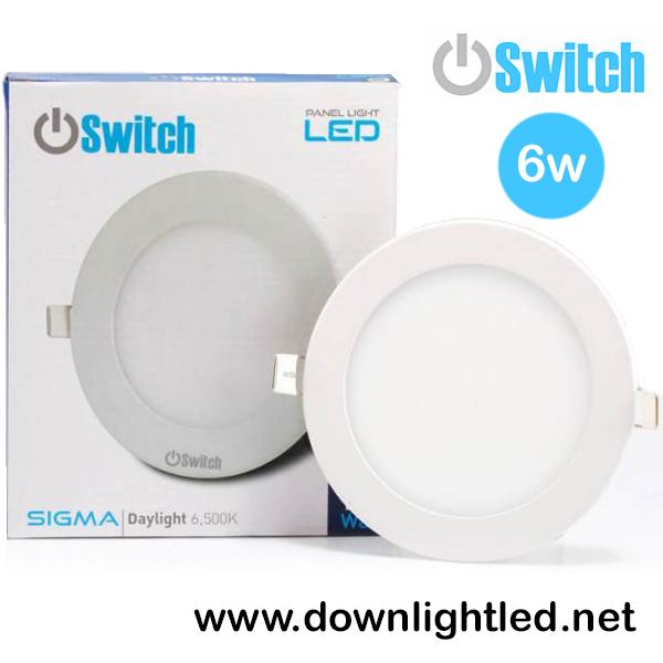 ดาวน์ไลท์ LED 6w รุ่น Panlellight Sigma ยี่ห้อ Switch (แสงขาว)