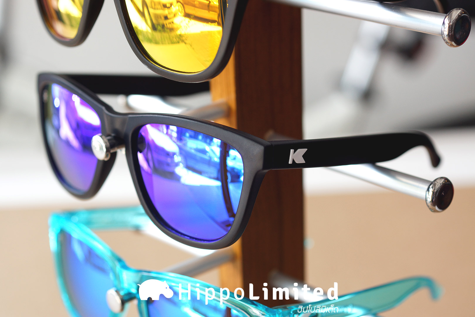 แว่น Knockaround Premiums Sunglasses - Black / Moonshine