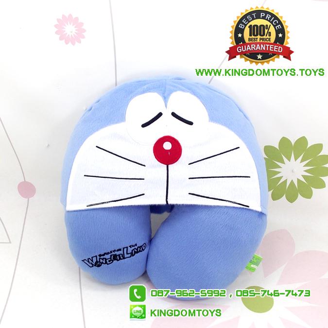 หมอนรองคอโดเรม่อน สีฟ้าเข้ม มีฮู้ด [Fujiko Pro]