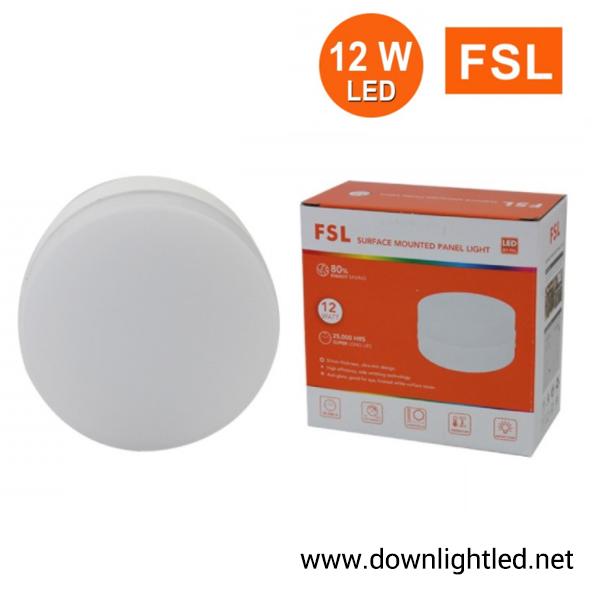 ดาวน์ไลท์ LED ติดลอย หน้ากลม 12W ยี่ห้อ FSL (แสงส้ม)