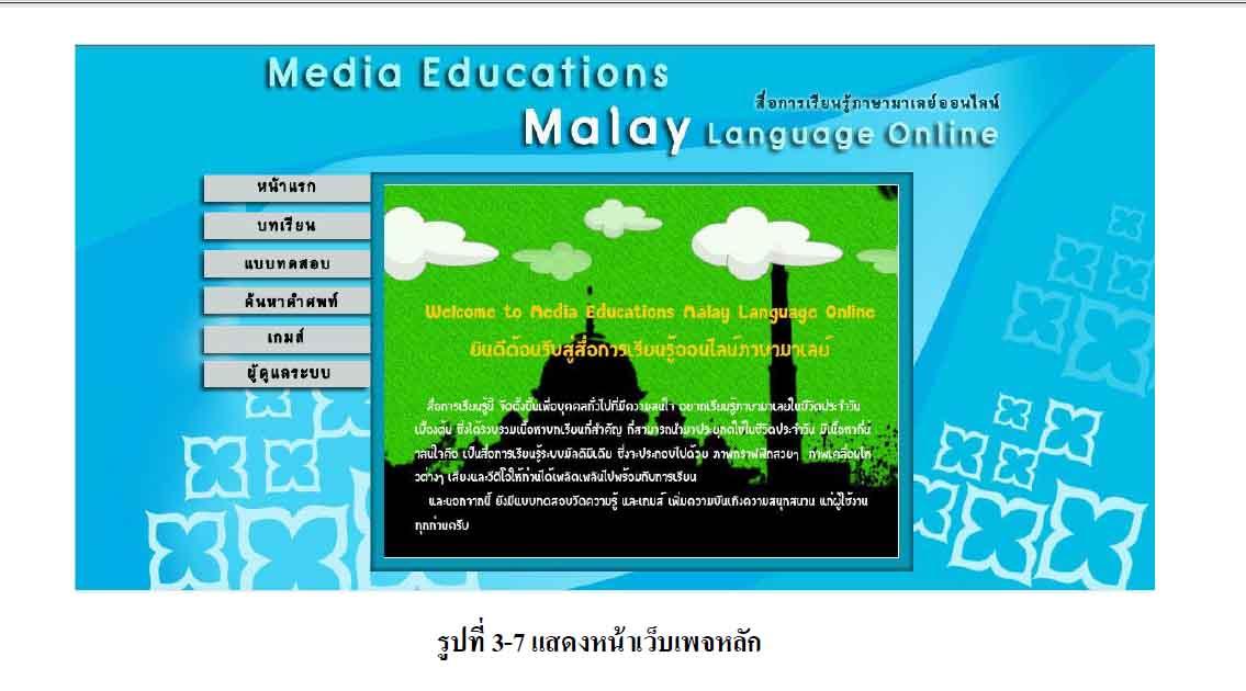 สื่อการเรียนรู้ภาษามาเลย์ออนไลน์