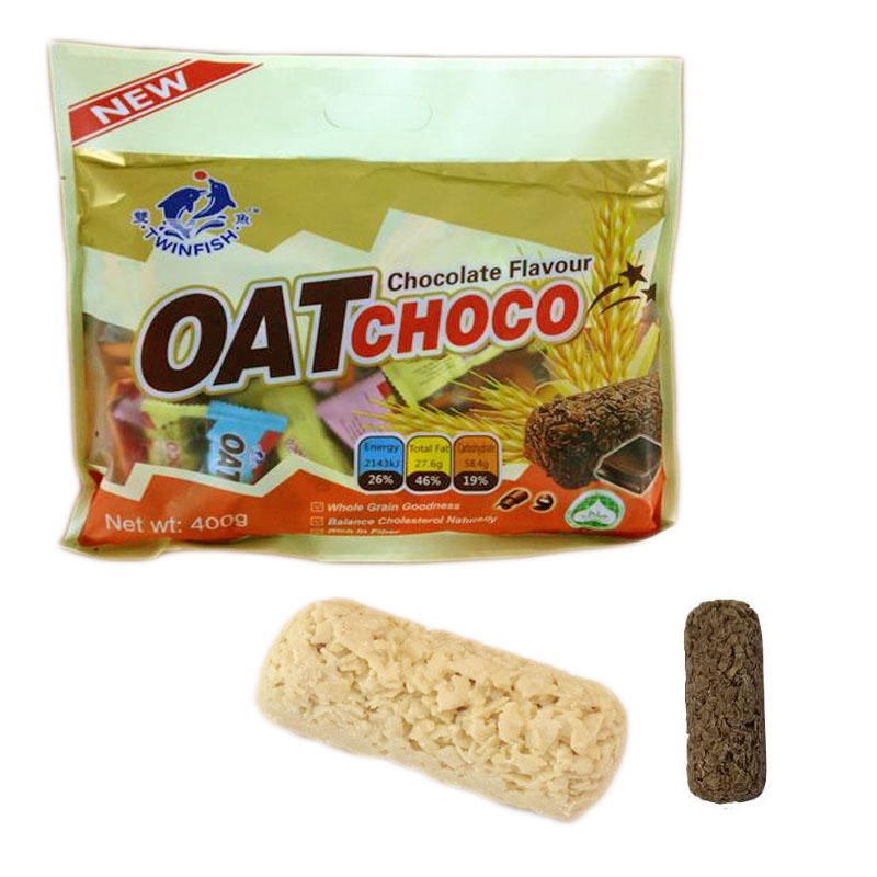 Oat Choco ขนมข้าวโอ๊ต อัดแท่ง แสนอร่อย!! ประมาณ 40 ชิ้น/ห่อ