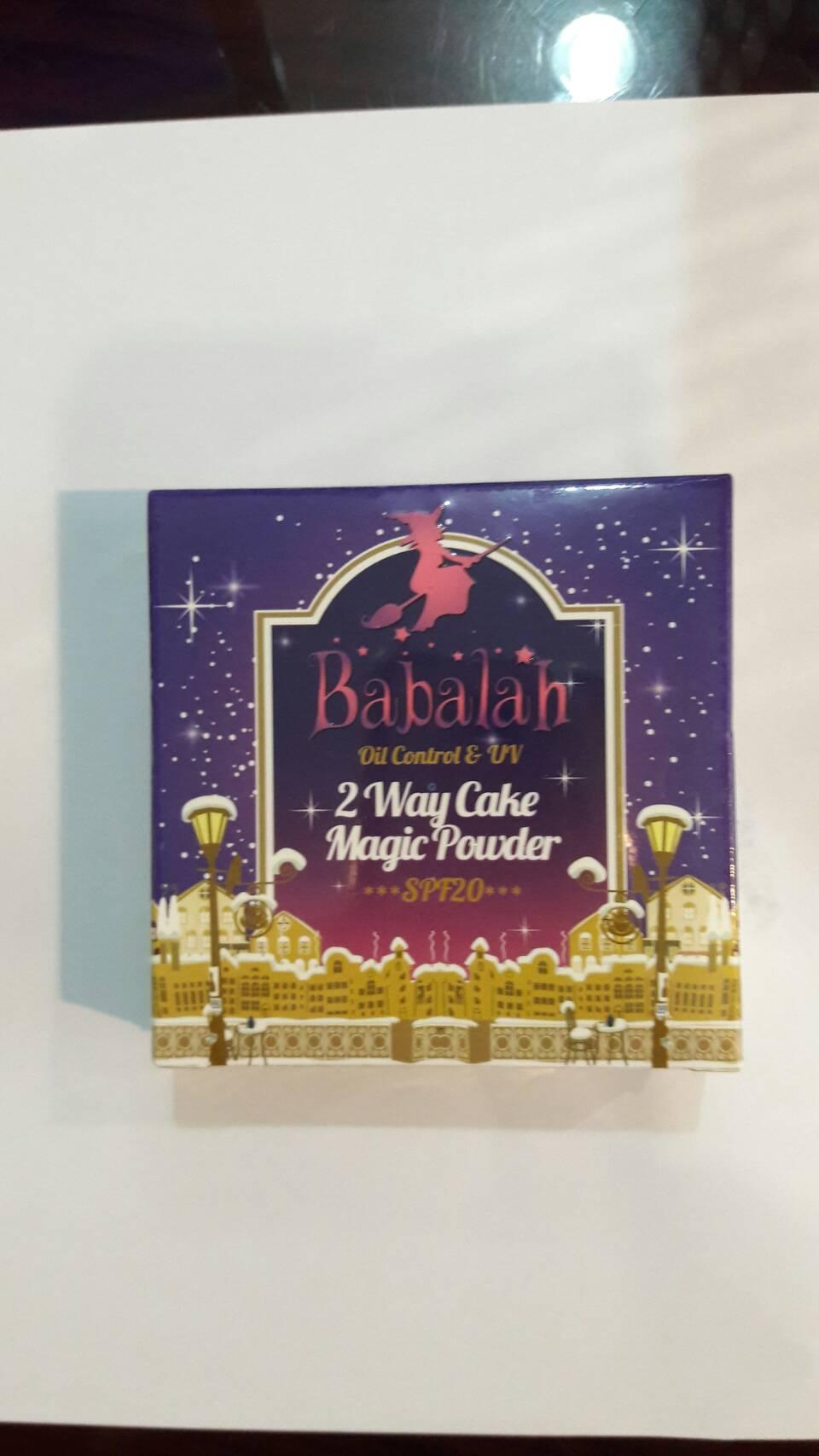แป้ง Babalah magic powder Oil Control & UV 2 Way Cake Magic Powder SPF สูตรควบคุมความมัน
