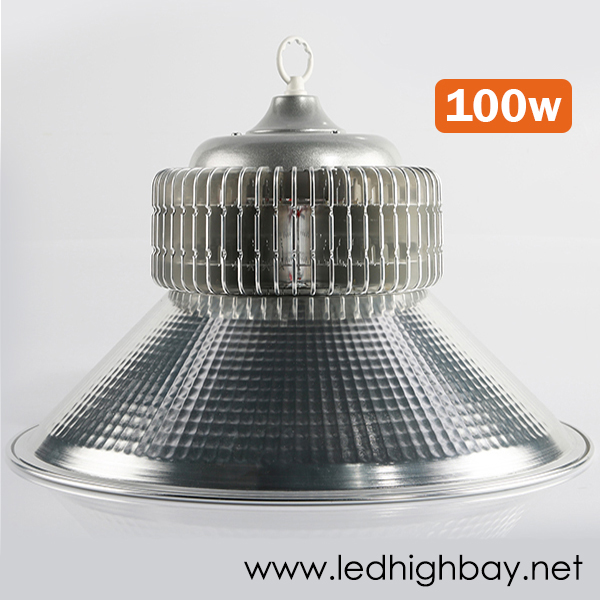 โคมไฮเบย์ LED รุ่น PLUS 100w ยี่ห้อ RICH LED (แสงขาว)