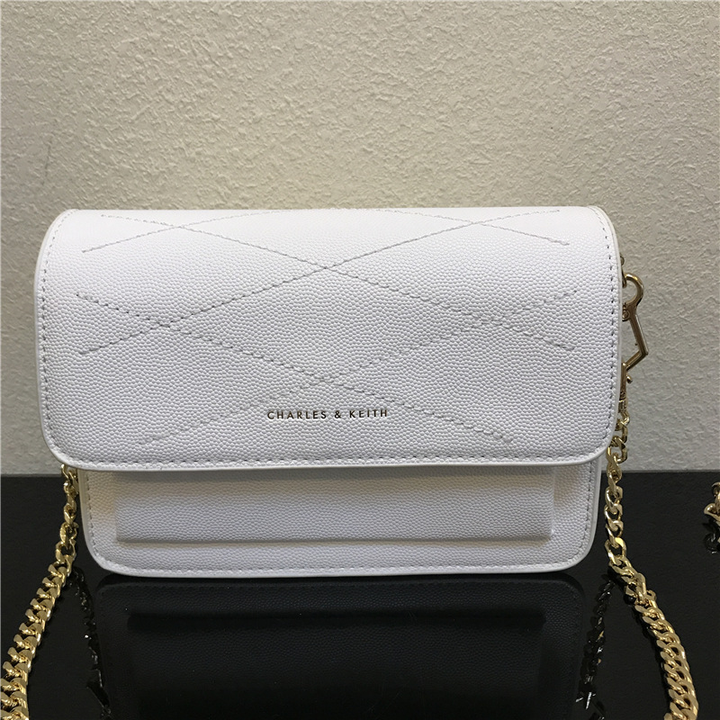 CHARLES & KEITH RED FRONT FLAP CROSSBODY *ขาว