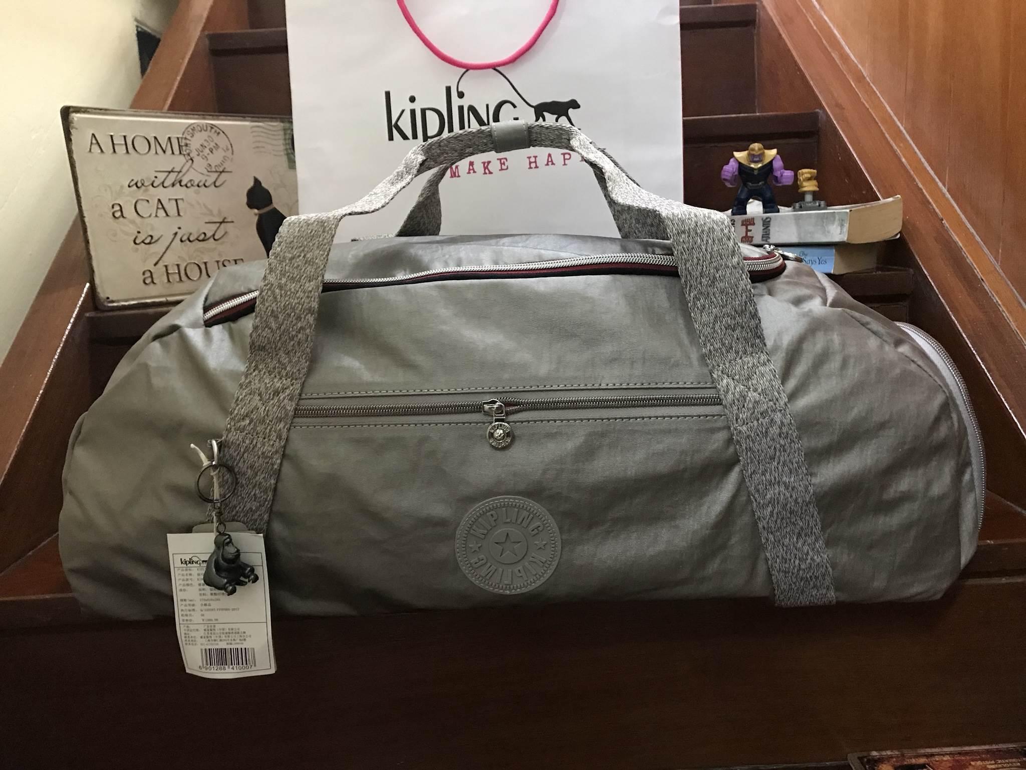 Kipling Nepsa Sports Bag convertible to backpack K19975-28Z กระเป๋าเดินทาง *เทา