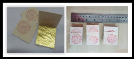 ทองคำเปลวแท้ 100% ขนาด 4x4 cm