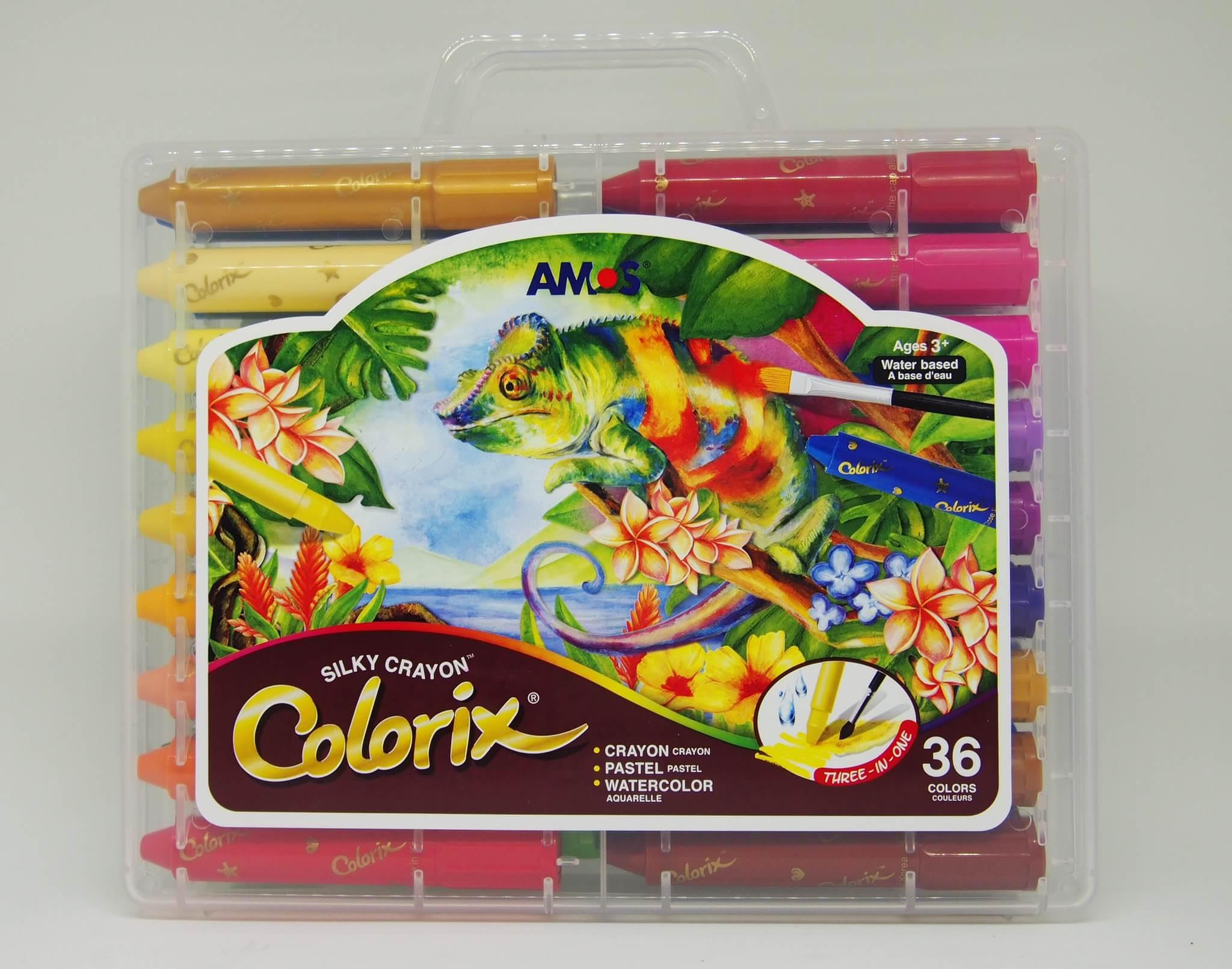 สีเทียน Amos สีเทียนเนื้อไหม 36 สี (Amos Colorix silky crayon 36 สี)
