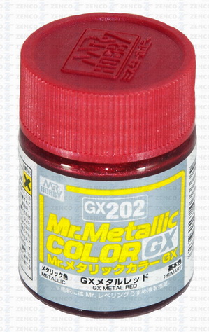 GX-202 Mr.metalic GX metal red 18ml.