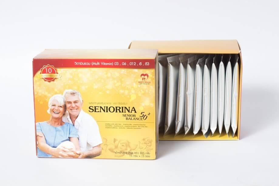 อาหารเสริมผู้สูงอายุ สูตรสมุนไพรสำหรับผู้เบื่ออาหาร สดชื่น แข็งแรง มีพลัง จำนวน 1 กล่อง