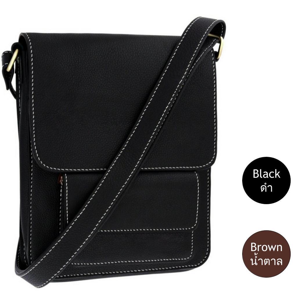 กระเป๋าสะพายข้าง 14นิ้ว เป็นกระเป๋าหนังแท้ สำหรับผู้ชาย เหมาะสำหรับใส่ไอแพด แท็ปเล็ต หนังสือ หรือ อื่นๆ