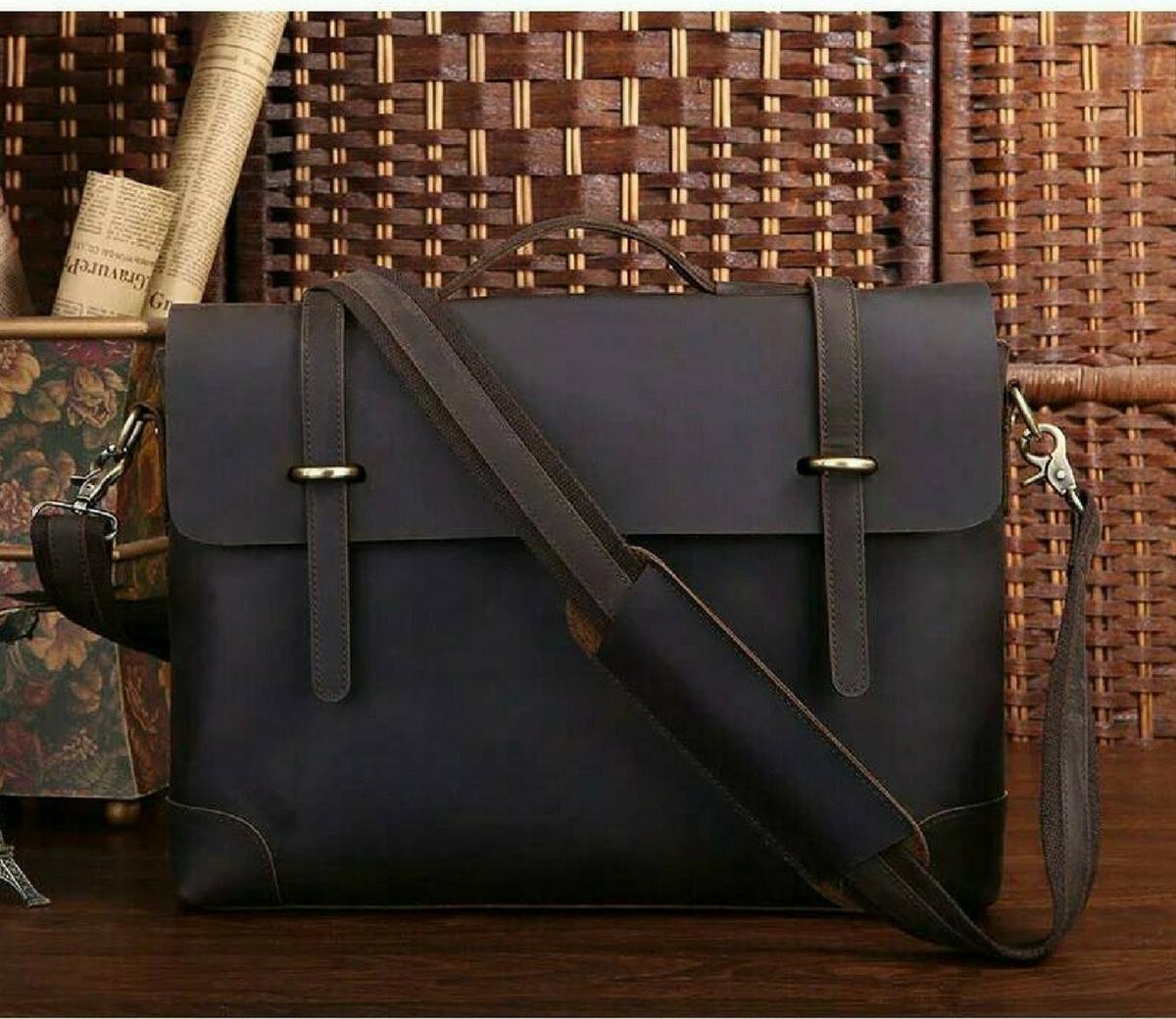 กระเป๋าสะพายข้าง กระเป๋าถือ ทรง MESSENGER หนัง CRAZY HORSE(นูบัค) เหมาะสำหรับนักธุรกิจและสาขาอาชีพต่างๆ