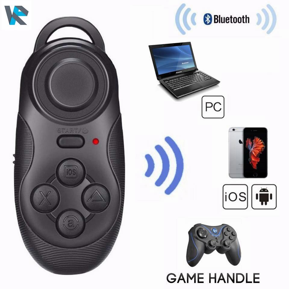 จอยเกมส์มือถือ บลูทูธ 4in1 ชัตเตอร์ถ่ายรูปเซลฟี่ จอยเกมส์ เมาส์ ควบคุมเล่นเพลงมือถือ สำหรับ Smartphone/TV Box/ PC