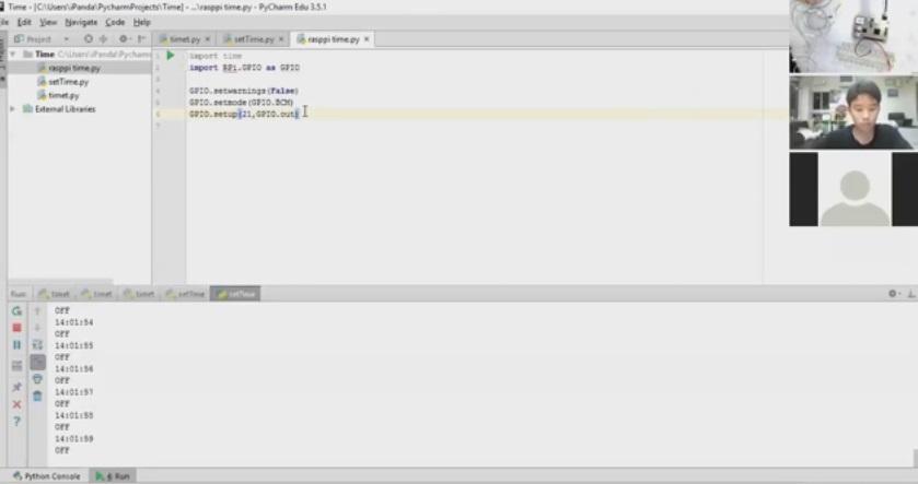 Raspberry Pi Online คาบที่ 5 เรื่อง การดึงคำสั่งแสดงเวลามาใช้งานกับ output ตอน 2/4