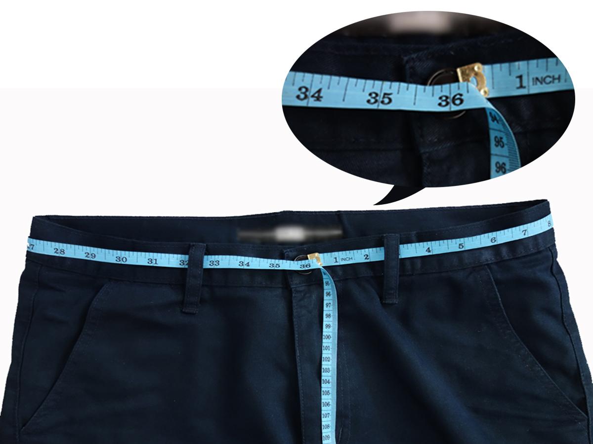 การวัดขนาดรอบเอว จากหูกางเกง2