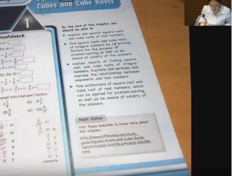 เรียนคณิตศาสตร์EPออนไลน์ ม.2 (ครูอุ๋งอิ๋ง) บทที่ 1 เรื่อง Squares Roots,Cubes&Cubes Roots ตอนที่2/3