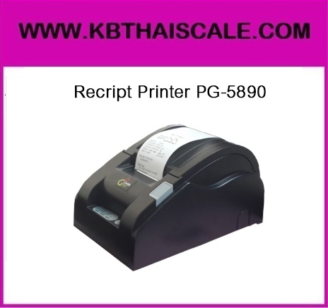 เครื่องพิมพ์ใบเสร็จ เครื่องพิมพ์กระดาษความร้อน58มม. เครื่องพิมพ์สลิป58มม. เครื่องพิมพ์ใบเสร็จอย่างย่อ 58MM Thermal Printer PG-5890 Receipt printer