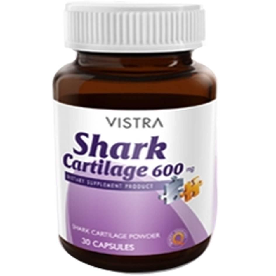 Vistra Shark Cartilage 30 เม็ด กระดูกอ่อนปลาฉลาม บรรเทาโรคข้อเสื่อม โรคข้อเข่าเสื่อม