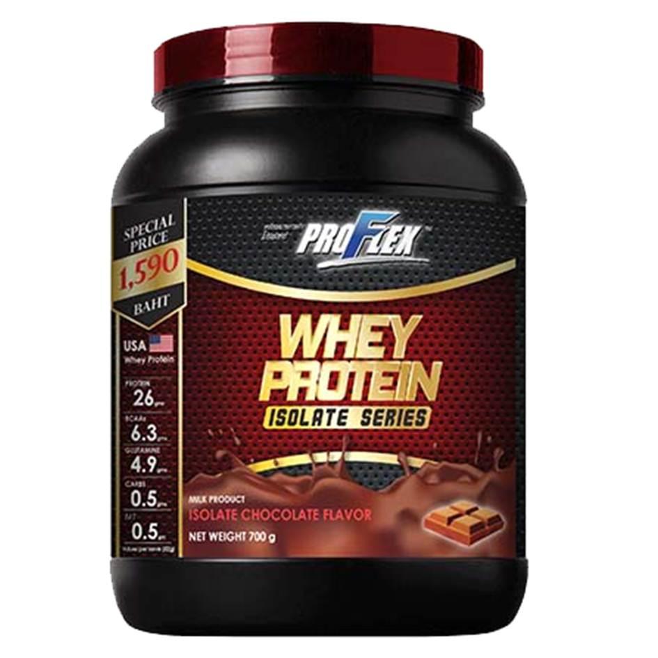 เวย์โปรตีน ProFlex Whey Protein Isolate กลิ่นช็อคโกแลต ขนาด 700 กรัม