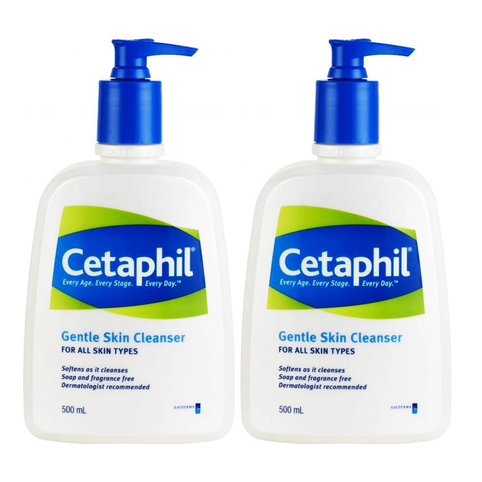 ซื้อคู่ ถูกกว่า* Cetaphil Gentle Skin Cleanser 500 ml (2 ขวด) ผลิตภัณฑ์ทำความสะอาดผิว สูตรสำหรับผู้ทีผิวแห้ง ผิวแพ้ง่าย และผิวปกติ