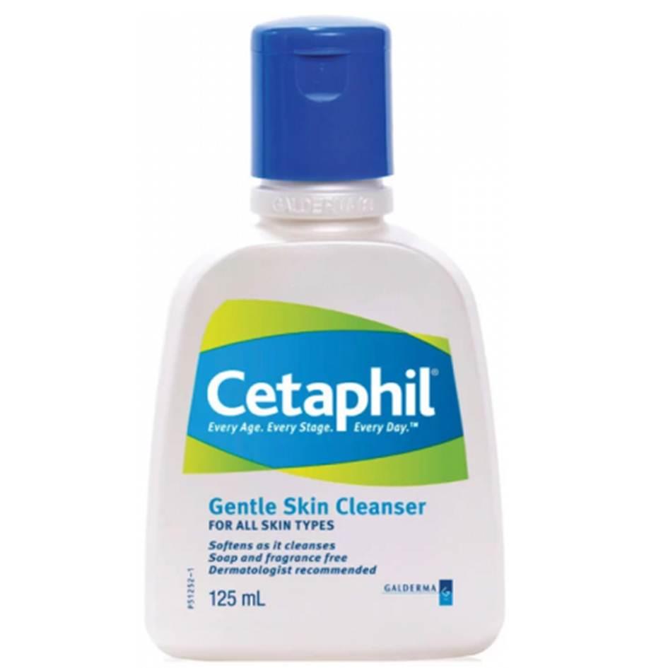 Cetaphil Gentle Skin Cleanser 125 ml ทำความสะอาดผิวหน้าและผิวกาย
