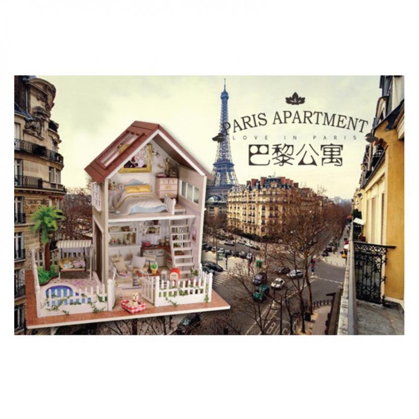 Large handmade diy hut Paris apartment house villa model(บ้านModelอพาร์ทเมนท์ในปารีส)