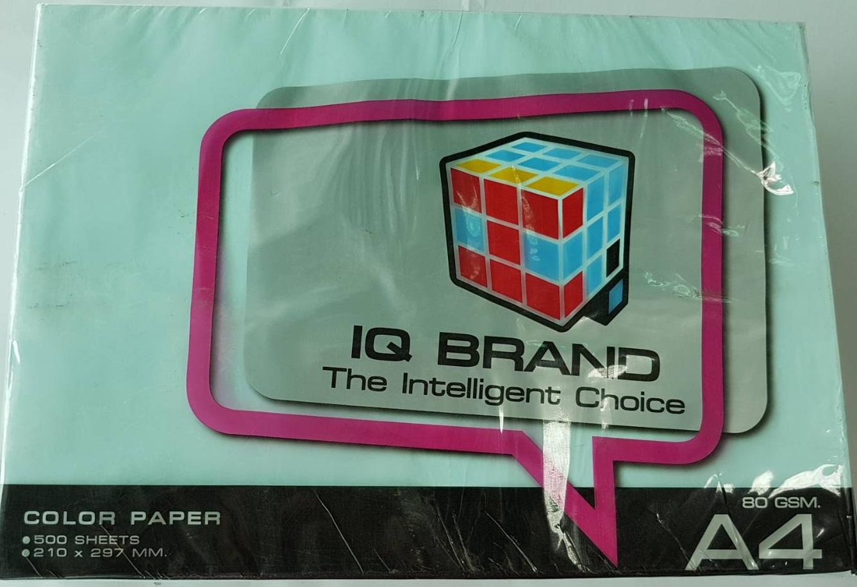 กระดาษสี IQ A4 80g สีฟ้าอ่อน 500แผ่น