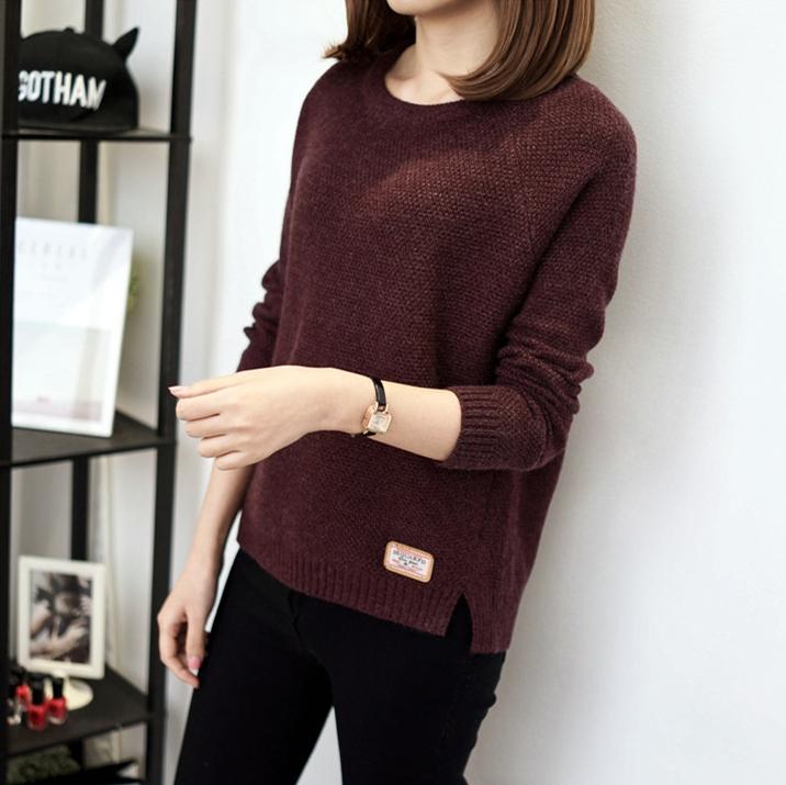 เสื้อกันหนาว Sweater authum N winter women (สีน้ำตาลเข้ม)