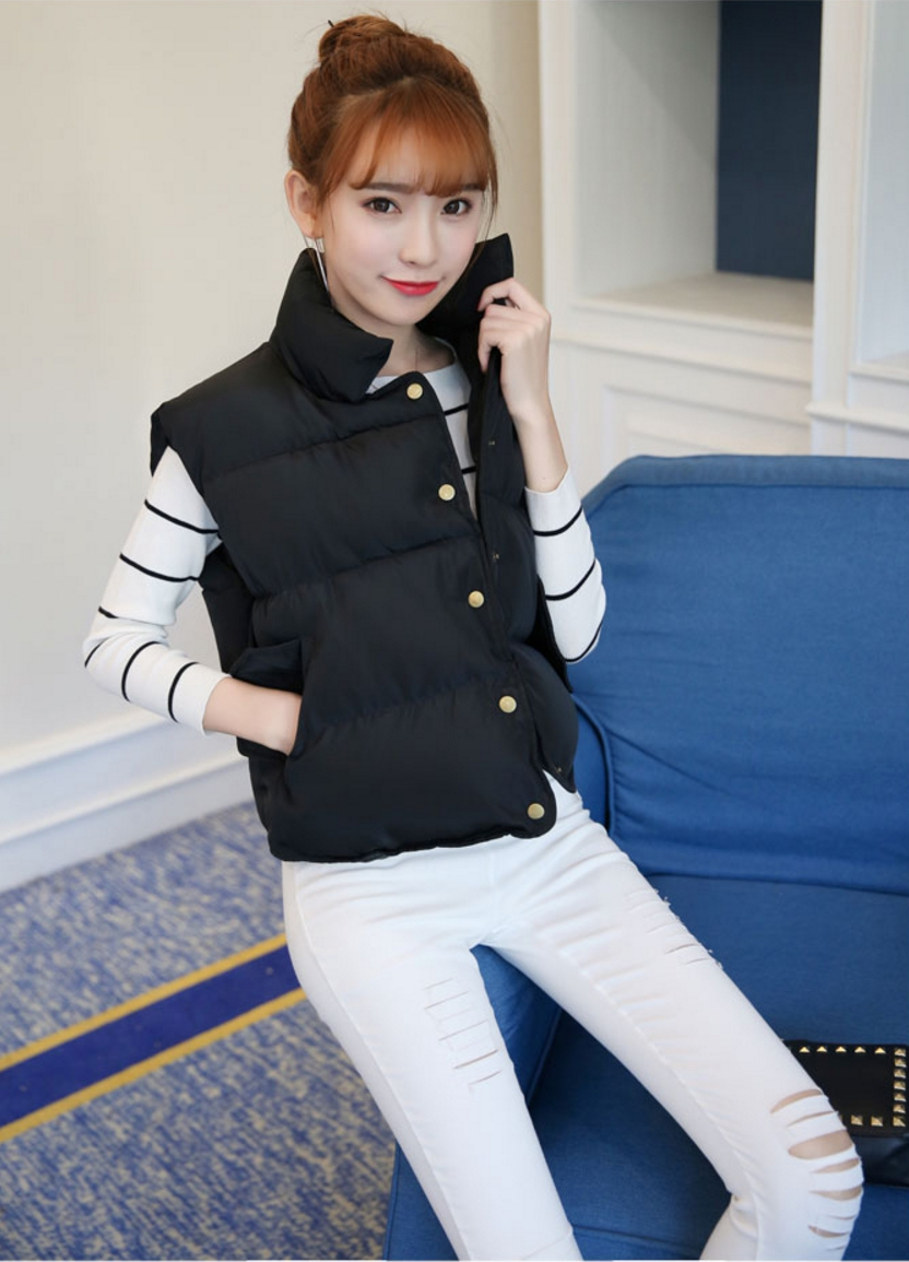 Women's winter vest jacket (Black)