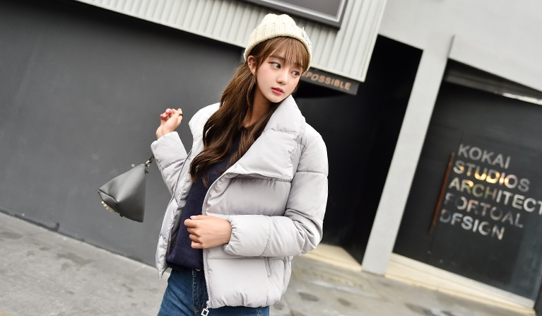 Korean women's winter jacket (Black)