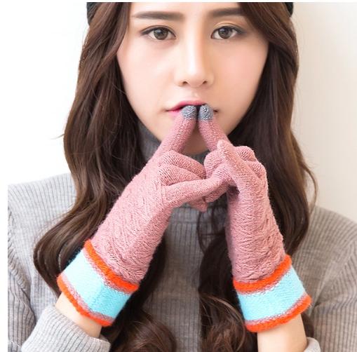 iWinter touch glove ถุงมือทัชกรีนได้ (ผู้หญิง/สีชมพู)
