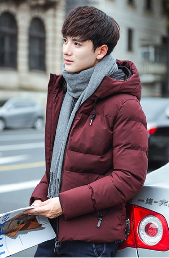 Trendy cotton winter jacket (สีแดง)