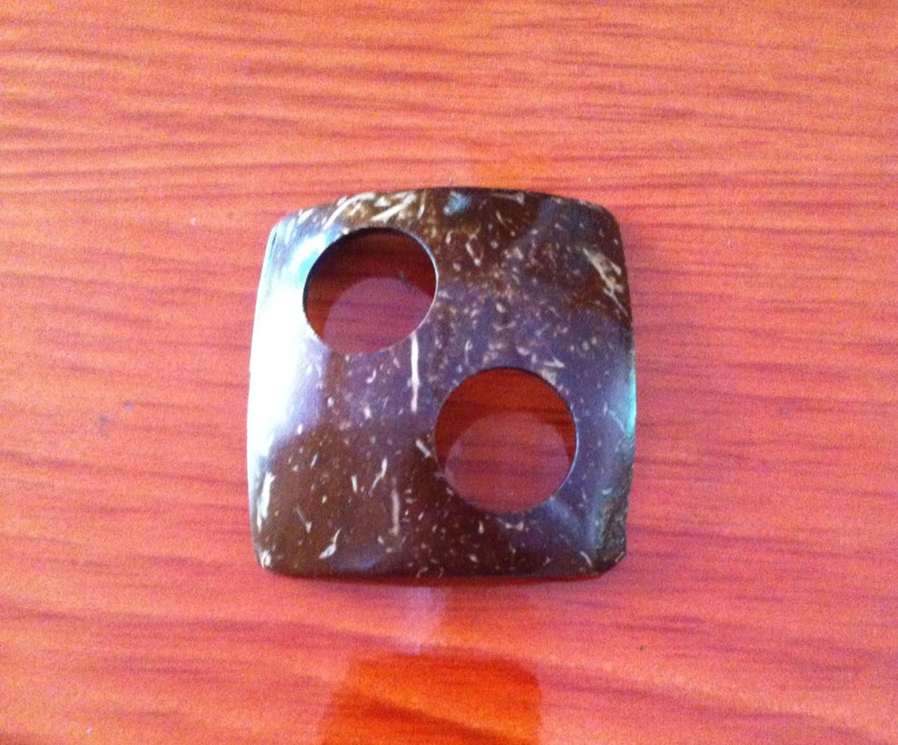 Coconut Buckle (Square) (หัวเข็มขัดกะลามะพร้าวรูปสี่เหลี่ยมด้านเท่า สี่เหลี่ยมขนมเปียกปูน)