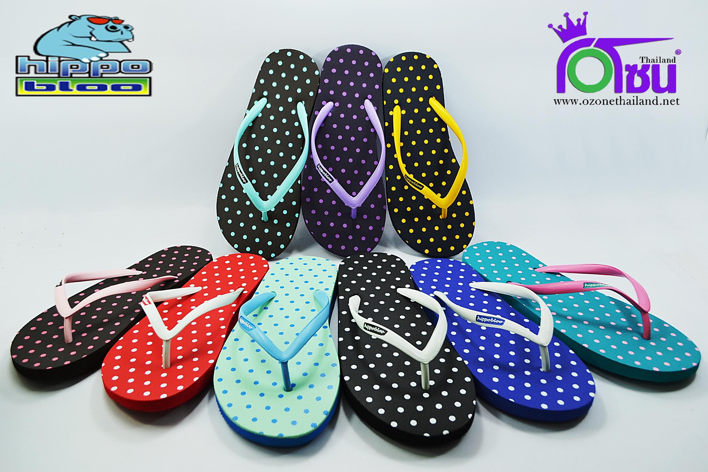 รองเท้าแตะ Hippo Bloo ฮิปโป บลู ลายจุด เบอร์ 9,9.5,10,