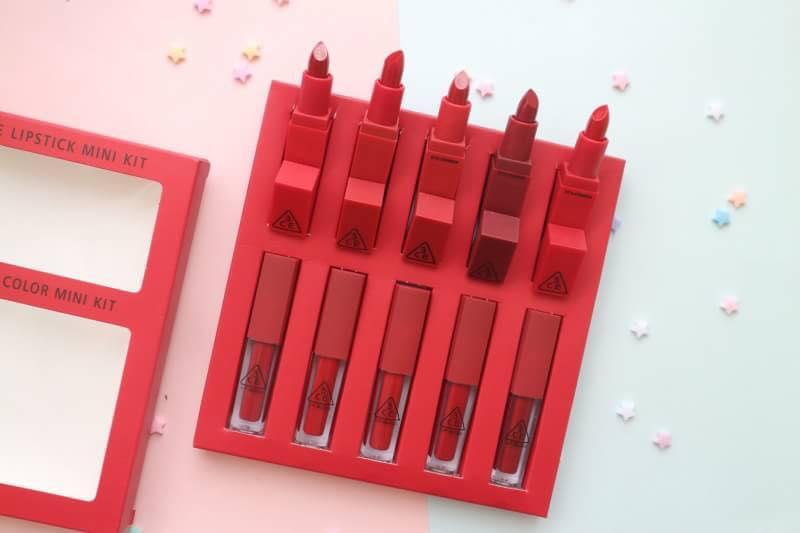 3CE Red Recipe Lip Color 2in1 ลิปแมท+ลิปกลอส โทนสีแดง (10 แท่ง) ราคาปลีก 230 บาท / ราคาส่ง 184 บาท