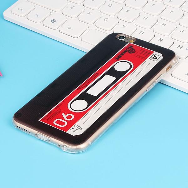 ** พร้อมส่งค่ะ ** เคส iPhone 7 Plus ลายเทปคาสเซ็ทย้อนยุค สีดำ