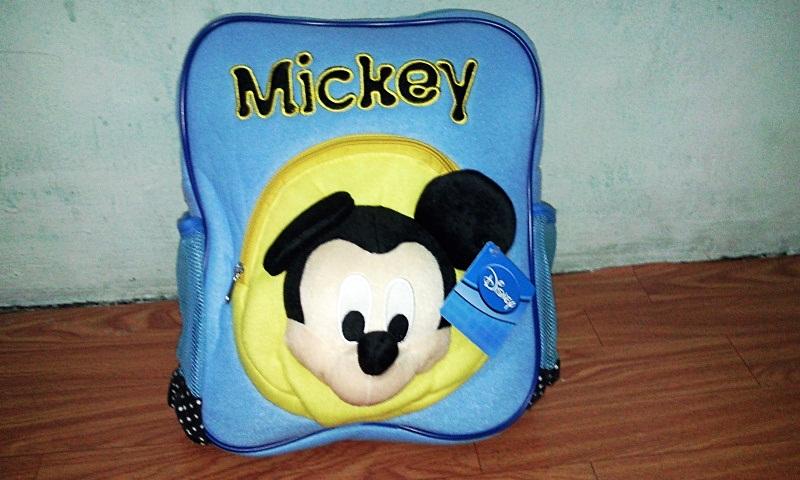 กระเป๋าเป้ มิกกี้ เมาส์ สีฟ้า เหมาะสำหรับคุณหนู ๆๆ สินค้ามาใหม่
