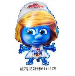 ลูกโป่งฟลอย์ ตัวการ์ตูน Smurfs เด็กผู้หญิง(แพ็ค10ใบ) / Item No.TL-A022