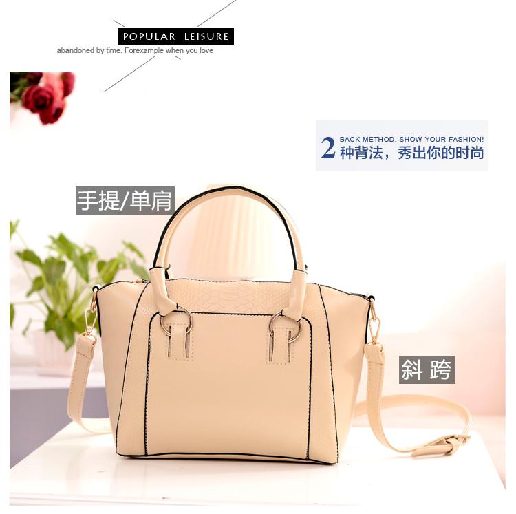 กระเป๋าแฟชั่น ดีไซน์สวยเรียบหรู สีขาว คลาสสิค แบบยอดนิยม เหมาะกับทุกโอกาส สามารถถือและสะพายได้ทั้งสองแบบ ((โปรโมชั่นส่งฟรี))