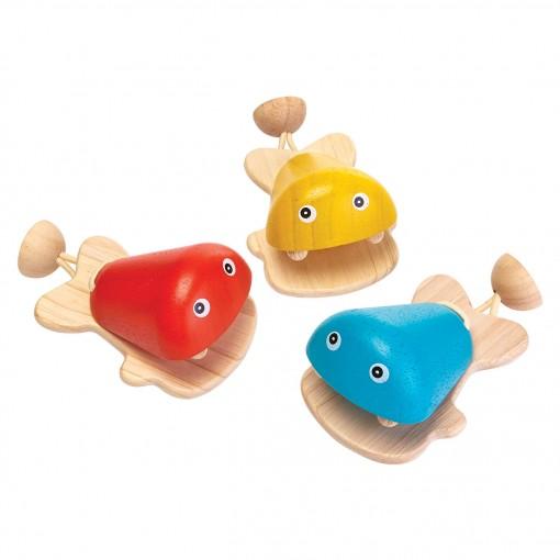 ของเล่นไม้ ของเล่นเด็ก ของเล่นเสริมพัฒนาการ Fish Castanet ปลาน้อยแก๊บแก๊บ