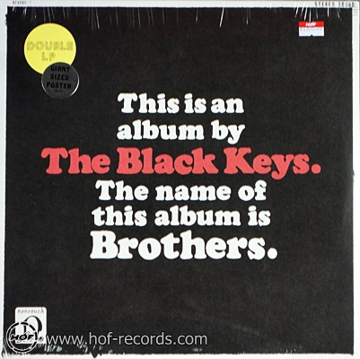 The Black Keys - The Name Of This Album Is Brothers 2lp NEW