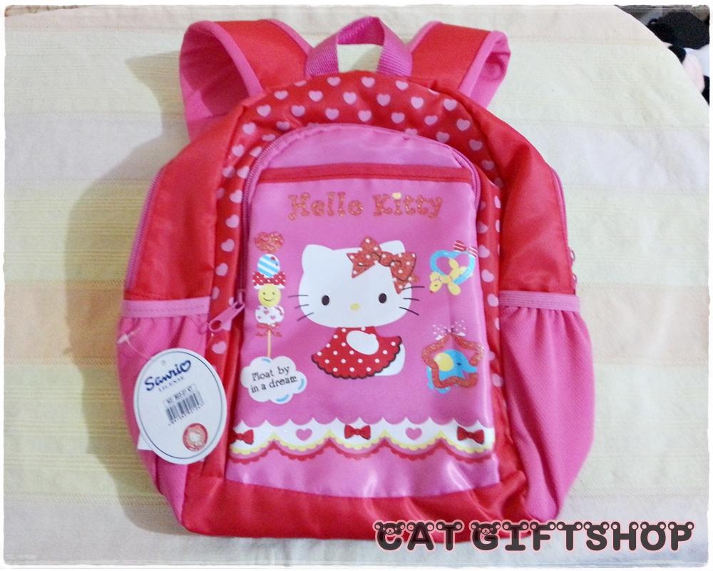 พร้อมส่ง :: กระเป๋าเป้เด็ก ลาย Hello Kitty สีแดง
