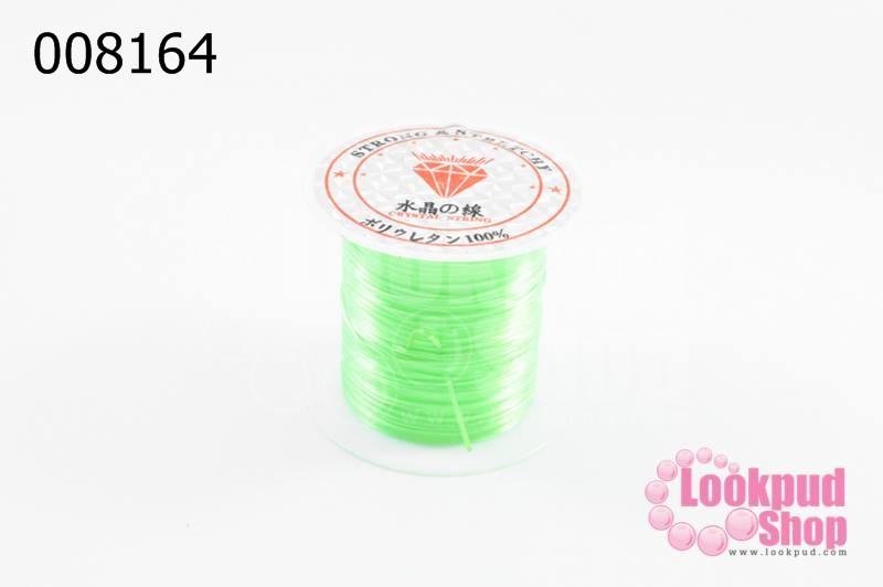 เอ็นยืด สีเขียวใบตตองอ่อน ม้วนเล็ก (1ม้วน/10หลา)