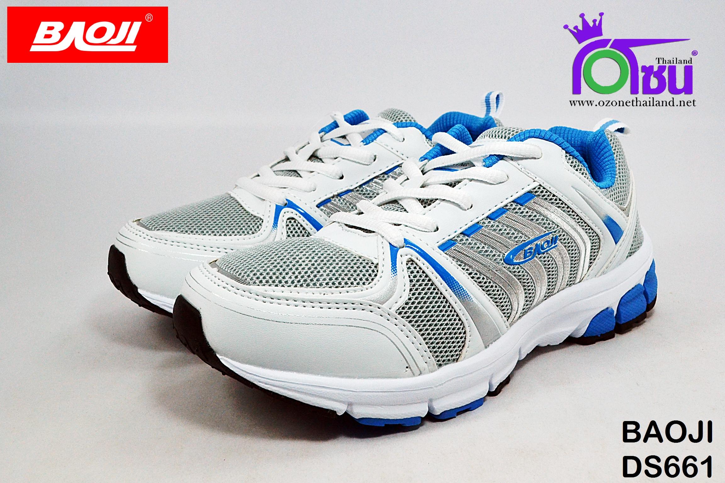 รองเท้าผ้าใบวิ่่ง BAOJI บาโอจิ รุ่นDS661 สีฟ้า เบอร์ 37-41