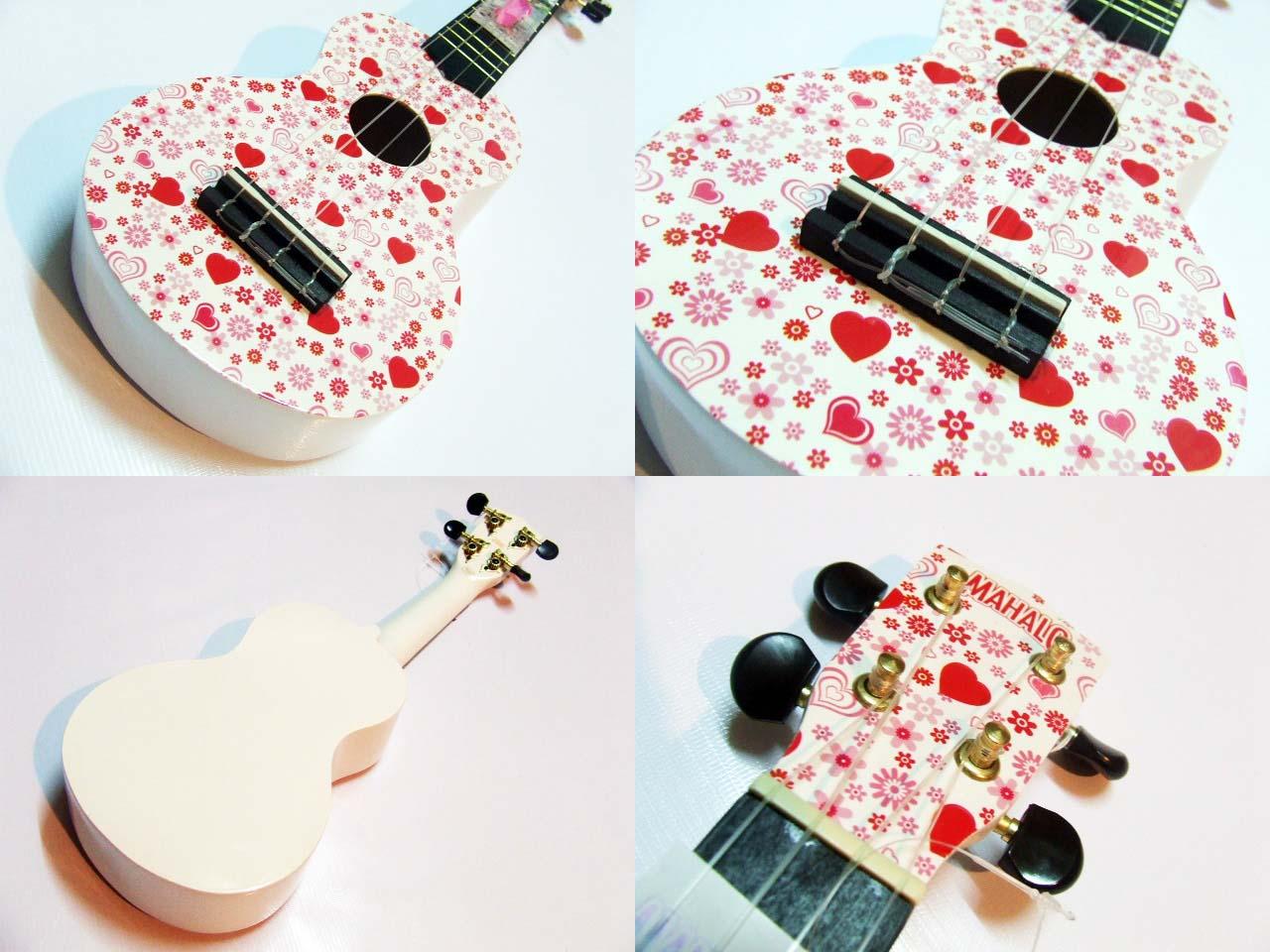 """อูคูเลเล่ Ukulele Mahalo (England) Art Heart Maple สาย Clear Soprano 21"""" ฟรีกระเป๋า"""